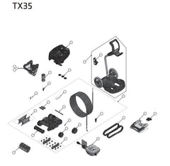 ZODIAC TX35 POOL CLEANER SPARE PARTS