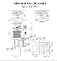 PENTAIR ONGA MEGASKIM SKIMMER BOX SPARE PARTS