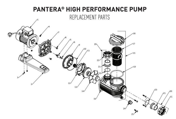 Onga Pantera Pool Pump Spare Parts Ppp550 Ppp750