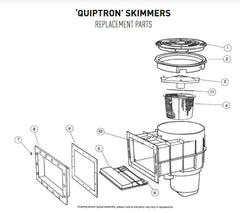 PENTAIR ONGA QUIPTRON SKIMMER BOX SPARE PARTS