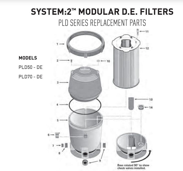 PENTAIR SYSTEM:2 MODULAR D.E. FILTER SPARE PARTS