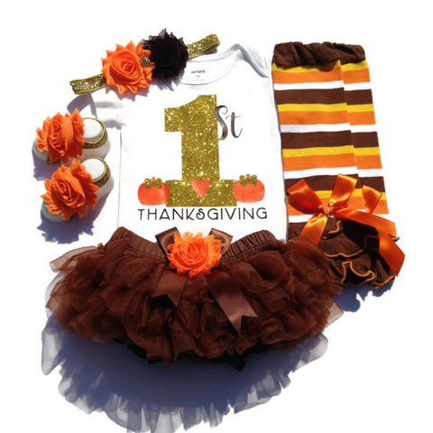 1st Thanksgiving Baby Girl Outfit