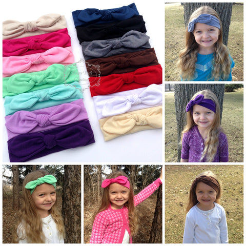 ON SALE NOW--Top Knot Jersey Headband