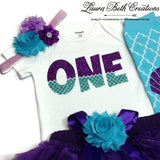 Mermaid 1st Birthday Girl Outfit