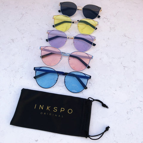 Freya Sunglasses on Marble with Inkspo Pouch