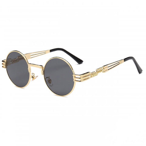 Retro Shades - Black & Gold - Inkspo