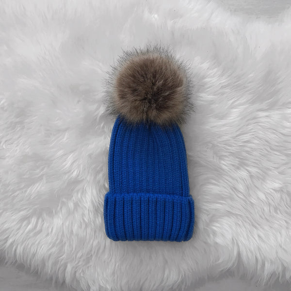 Pop of Blue Beanie - Inkspo