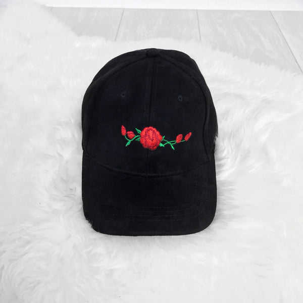 Embroidered Roses Hat - Inkspo