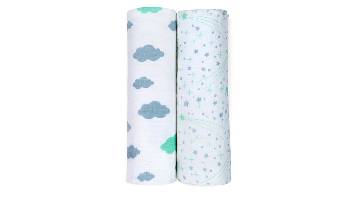 Newton Safer Swaddle in Lil' Dreamer Shooting Stars