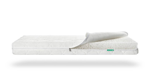 Example of a standard crib mattress size