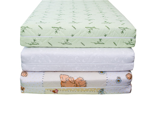stack of organic mattresses