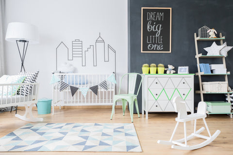Example of baby boy nursery ideas with wall decals