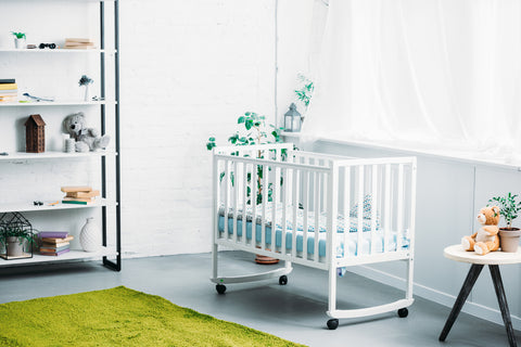 baby craddle in nursery