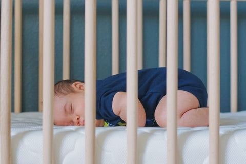 baby sleeping after a baby cry