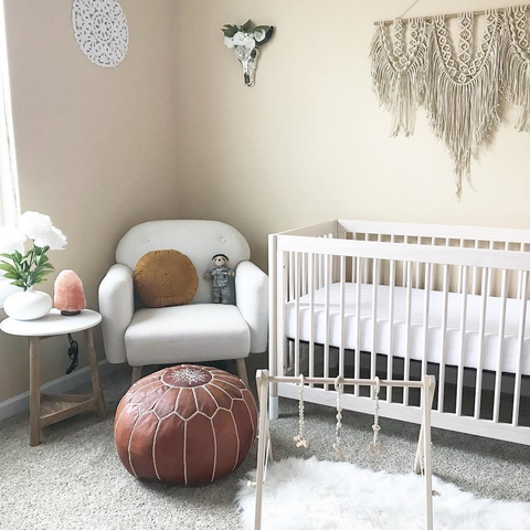 Baby furniture in nursery