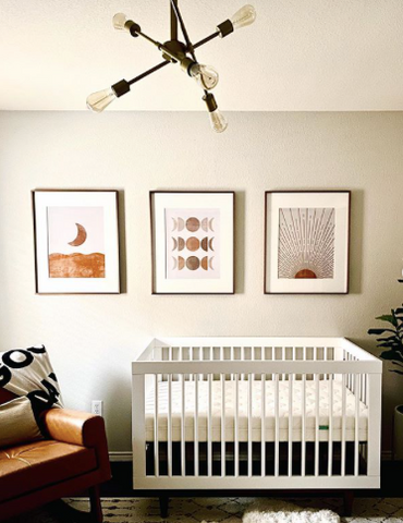 Nursery set up with baby safety as number 1 priority