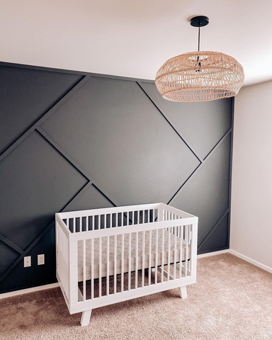 Nursery with baby safety features