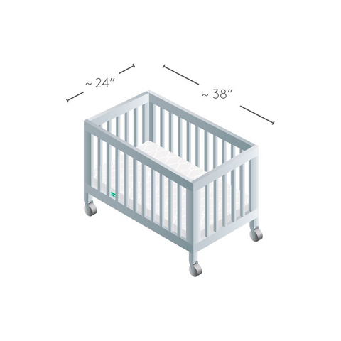 mini crib dimensions