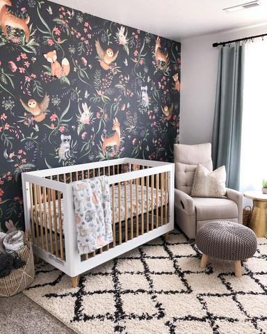crib in nursery after parents started nesting