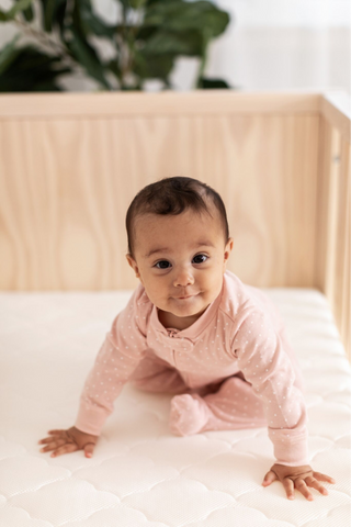 Baby On Non-Toxic Crib Mattress