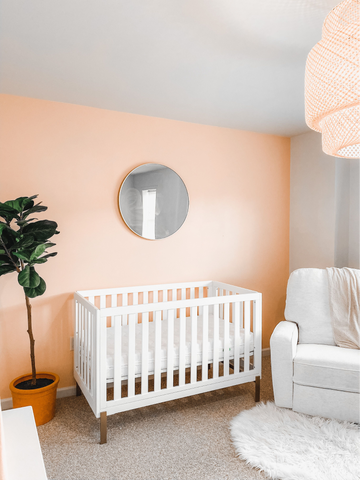 light pink nursery paint idea