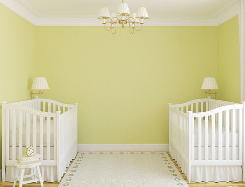example of twin nursery ideas with two cribs