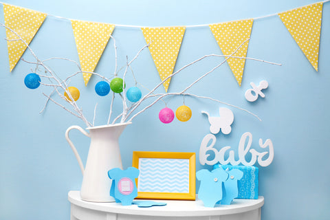 virtual baby shower decorations