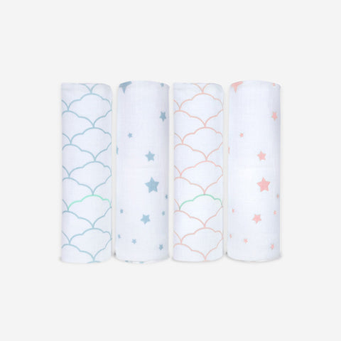 2-Pack Organic Swaddle Blankets