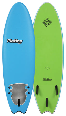 2018 Platino 5'6 HDPE Softtop Fish Azure Blue Lime