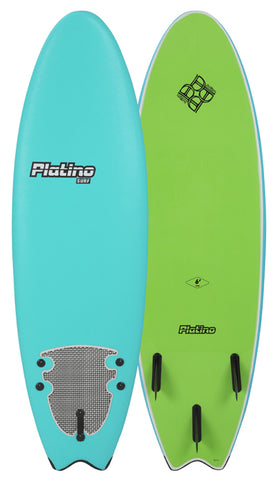 2018 Platino 5'6 HDPE Softtop Fish Turquoise Apple Green