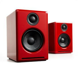 Audioengine A2+ Powered Speakers-Speakers-Audioengine-Red-vinylmnky