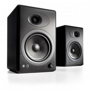 Audioengine A5+ Premium Bookshelf Speakers-Speakers-Audioengine-Black-Powered-vinylmnky