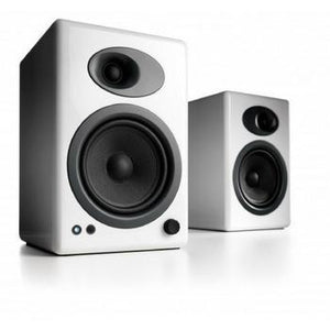 Audioengine A5+ Premium Bookshelf Speakers-Speakers-Audioengine-White-Powered-vinylmnky