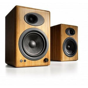 Audioengine A5+ Premium Bookshelf Speakers-Speakers-Audioengine-Bamboo-Powered-vinylmnky