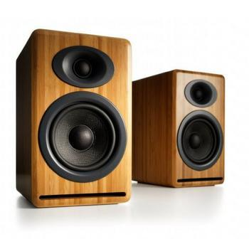 Audioengine P4 Premium Passive Bookshelf Speakers-Speakers-Audioengine-Bamboo-vinylmnky