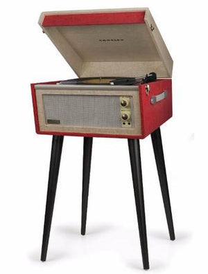 Dansette Bermuda Turntable + [ Bonus Spotlight LP Included ]-Record Player-Crosley-Red-vinylmnky
