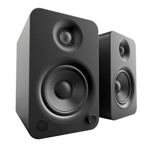 Kanto YU4 Powered Speakers with Bluetooth™-Speakers-Kanto-Matte Black-None-vinylmnky