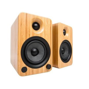 Kanto YU4 Powered Speakers with Bluetooth™-Speakers-Kanto-Bamboo-None-vinylmnky