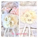 Flower girl basket and ring cushion