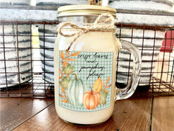 Crisp Leaves and Pumpkins Please | 16 oz Jar Soy Candle | Fall Scents Candle