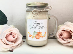 Happy Fall Y'all | Fall Decor | Autumn Candle | 16 oz Soy Candle | Handmade Candle