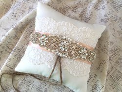 Ring pillow for rustic weddings