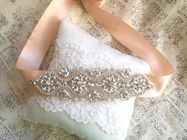 rose gold wedding sash belt