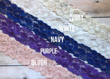 Burngundy wedding garter lace choices