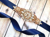 rose gold bridal sashes