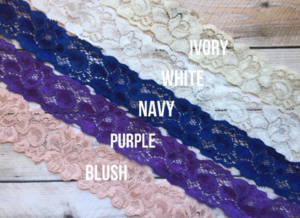 wedding garter stretch lace options
