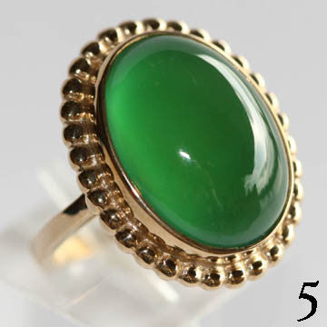 14Kt Gold Ring 6.55ct Chrysoprase Ring High Fashion Bruce Magnotti Cocktail Ring Fine Jewelry Size 6 1/2