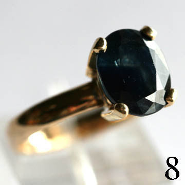 14Kt Gold Sapphire Ring 4.75ct Natural Blue Sapphire Bruce Magnotti Cocktail Ring Fine Jewelry Size 7 1/4