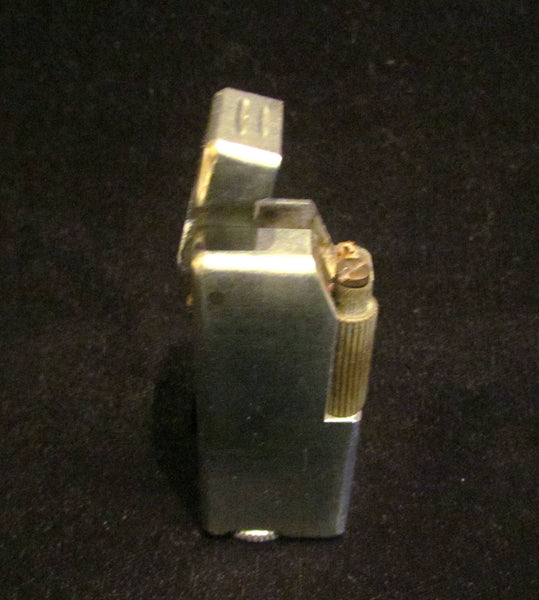 Crown Trench Lighter 1940's Outdoor Cigar Pipe Cigarette Working Silver Pocket Lighter