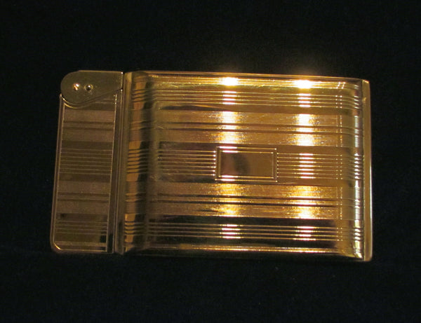 Elgin American Beauty Magic Action Cigarette Case Lighter In Fabulous Working Condition 1940 Gold Tone
